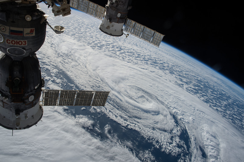 Just caught this guy churning in the middle of the #AtlanticOcean. #YearInSpace