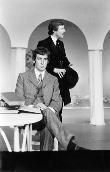Nick Williams and Hugh Simon in 'The Importance of Being Ernest', 1976