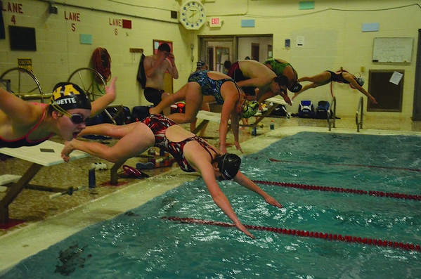 Hoosac Valley High School Co-op Swim Team Practice