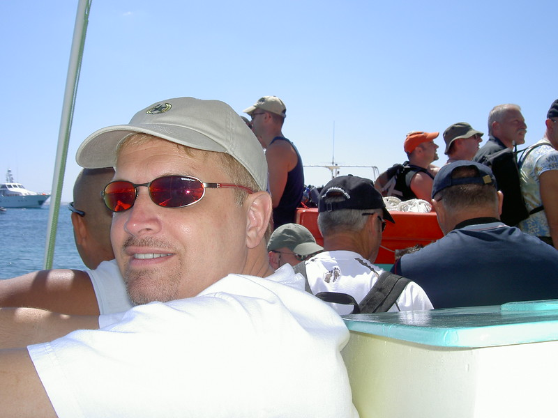 Onboard boat to beach in Greece