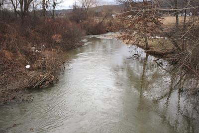Rising Water Level, Rex's Road, Lehighton (2-28-2011)