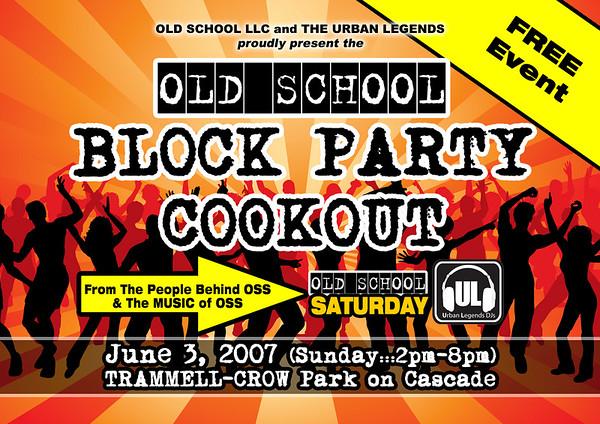 Old School BLOCK PARTY Cookout @ Trammell-Crow Park ::: ATL, GA, USA [Jun.03.2007]