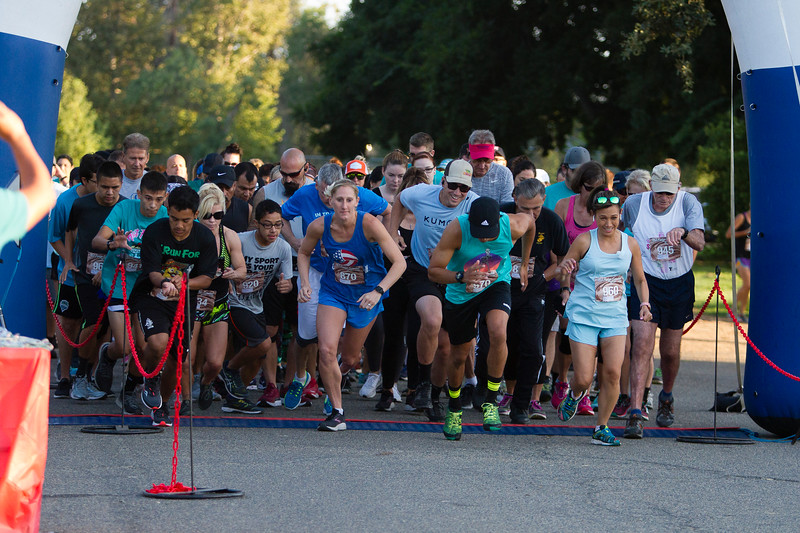 And the race is on at the start of the  2nd Annual Visalia Hot Fudge Sundae Run held at Mooney Grove Park in Visalia on Sunday, August 18th.