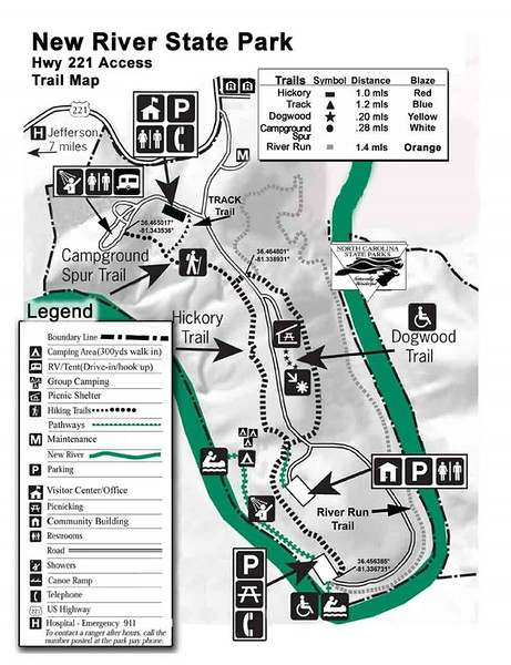 New River State Park (Highway 221 Access Trails)