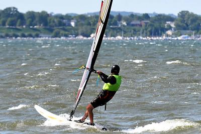 Windsurfing on Presque Isle Bay