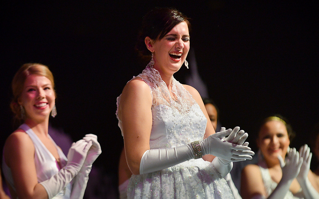. Christine Schrader of Lakeville reacts after being named the 2014 East Wind Princess. (Pioneer Press: Ben Garvin)