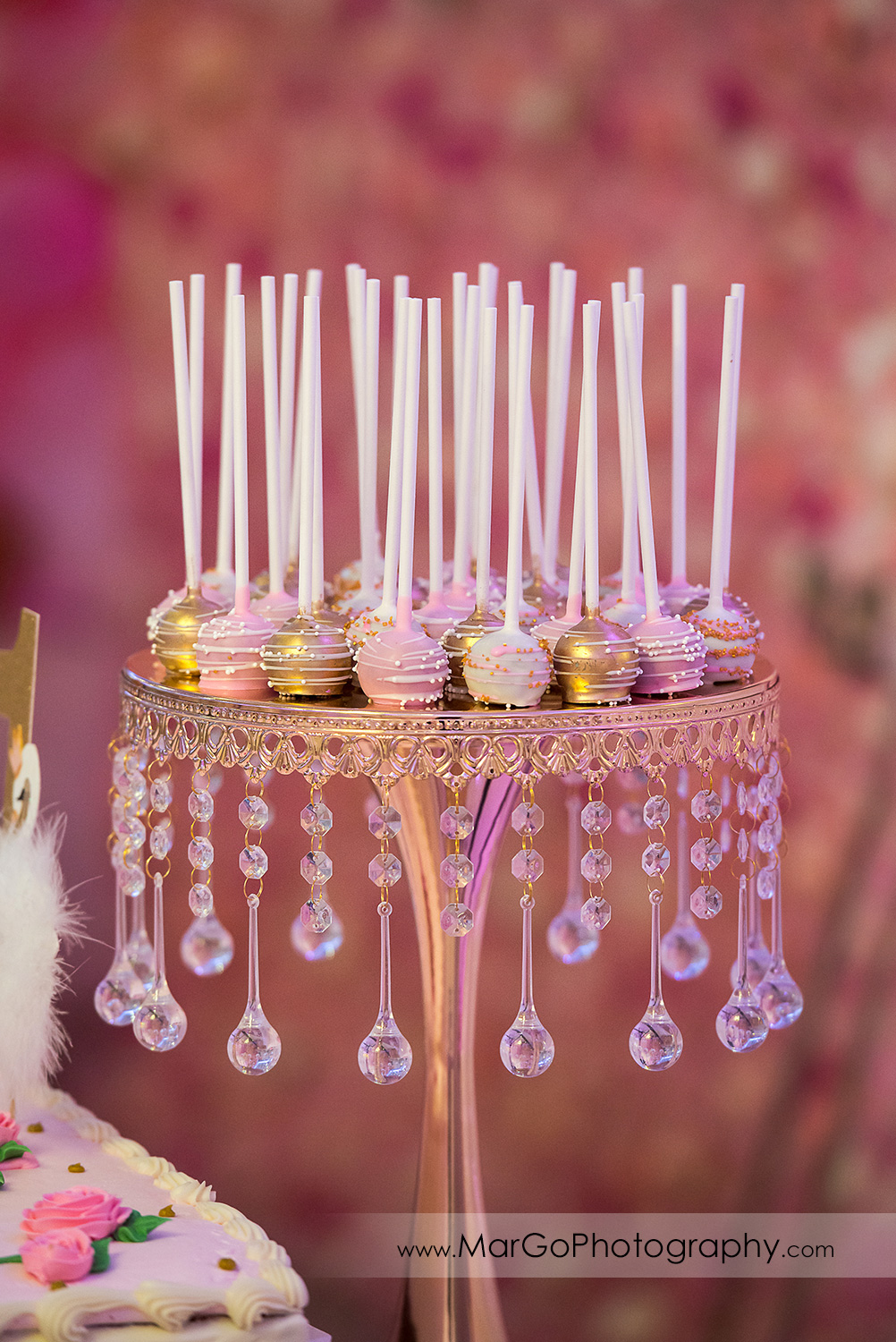 white pink and gold chocolates at Newark Oasis Palace