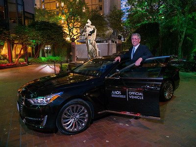2 AAOS President Maloney and Genesis Car