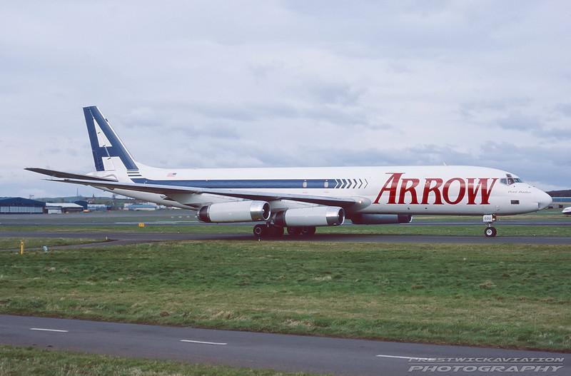 N8968U. Douglas DC-8-62H. Arrow Air. Prestwick. March. 1999.