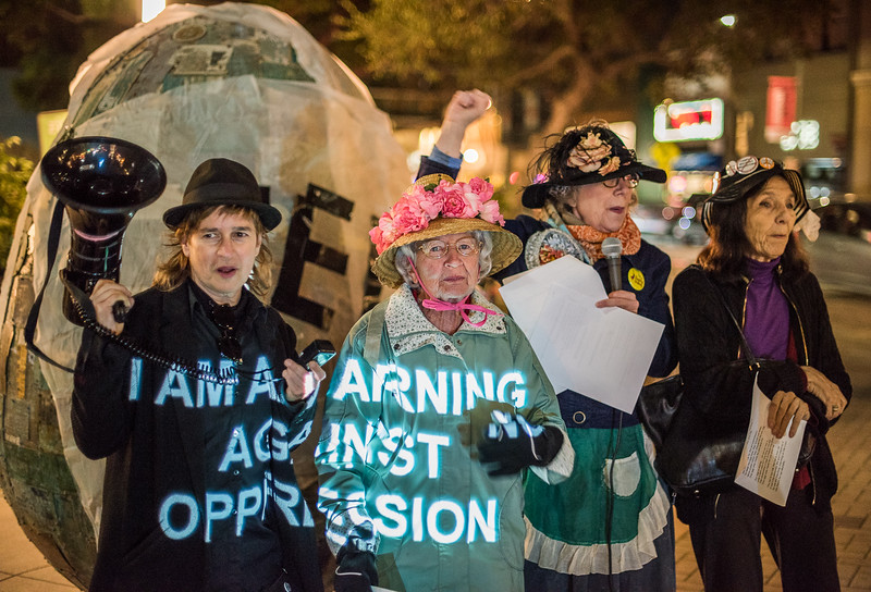 The Raging Grannies Lead Palo Alto Protest Against Net Neutrality Rollbacks