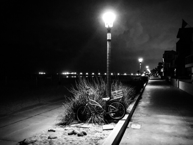 5:30 a.m., before the sun rises, on the Strand in Manhattan Beach