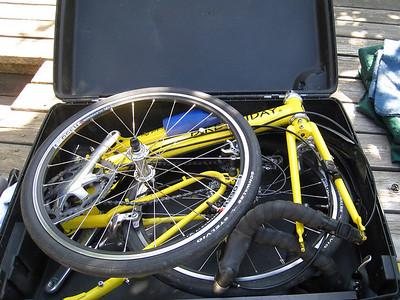 Bike PackingYellow Bike