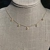 1.01ctw Trillion Rose Cut Diamond Scatter Necklace 21