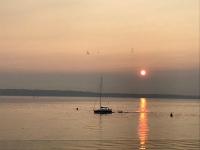 Sunset dinner at Ray's Cafe with the Nilands - August 16, 2018