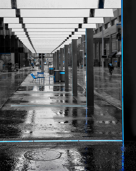 Nicollet Mall In The Rain
