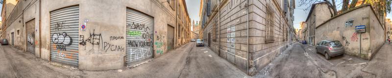 Via Squadroni e Via Manfredi - Reggio Emilia, Italy - March 28, 2015