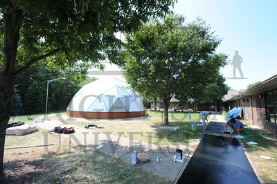 9205 Construction of The Dome at Mini U 8-2-12