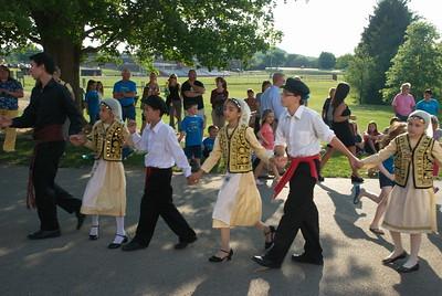 Community Life - Greek Dance Performance in Mercer - May 31, 2012