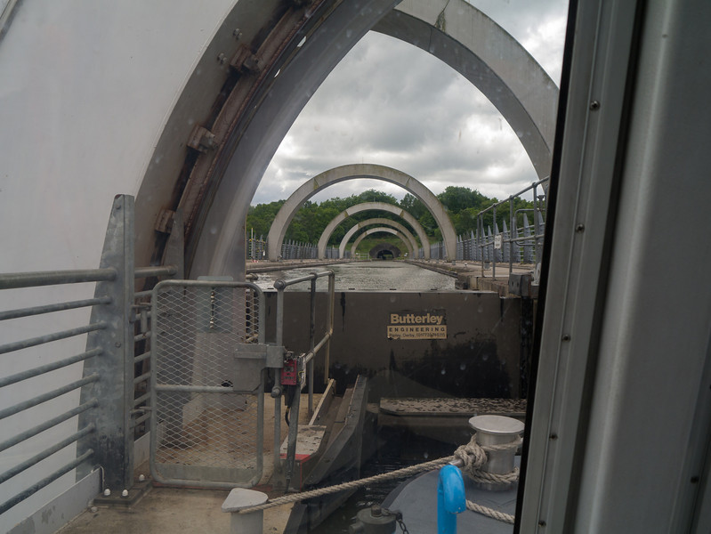 Trip on the Falkirk wheel, at the top