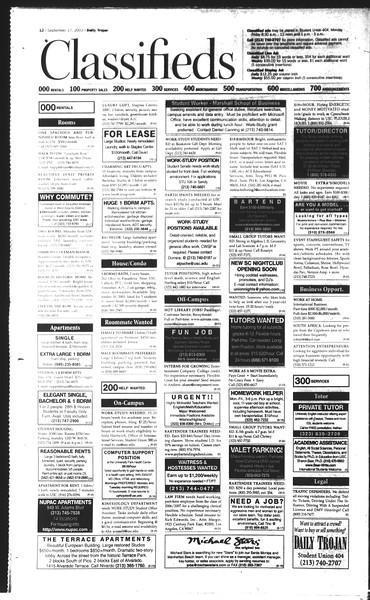 Daily Trojan, Vol. 150, No. 16, September 17, 2003
