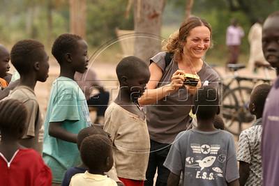Artist Vanessa Beecroft in Sudan