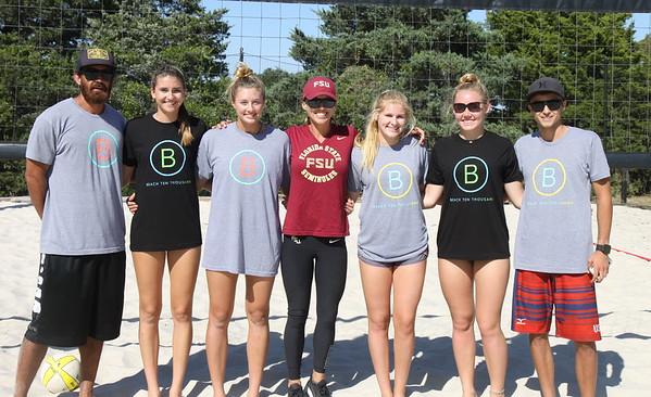 Beach 10K Clinic and Tournament + Coach Niles FSU (10/18/2015)
