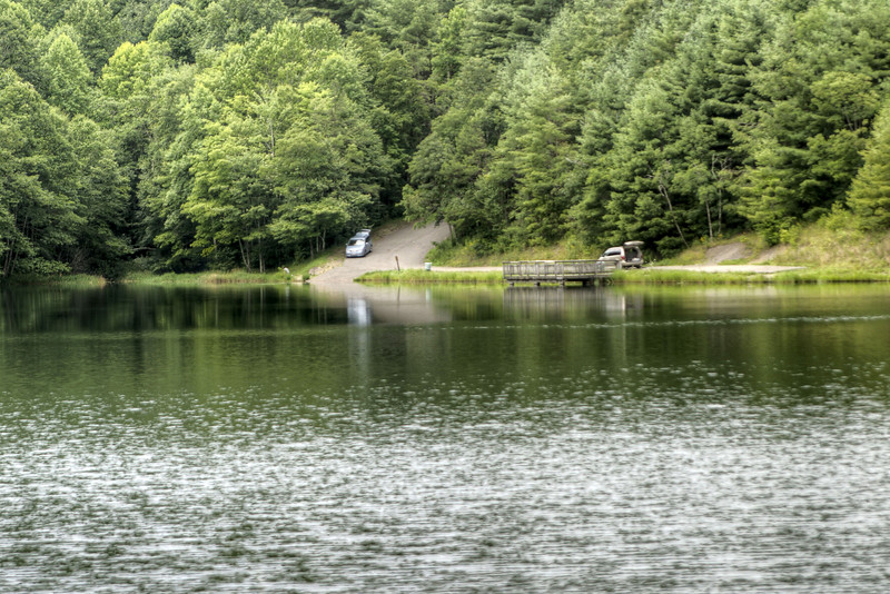 People enjoy fishing at the Upper Norton Reservoir in Norton, VA on Tuesday, July 30, 2013. Copyright 2013 Jason Barnette
