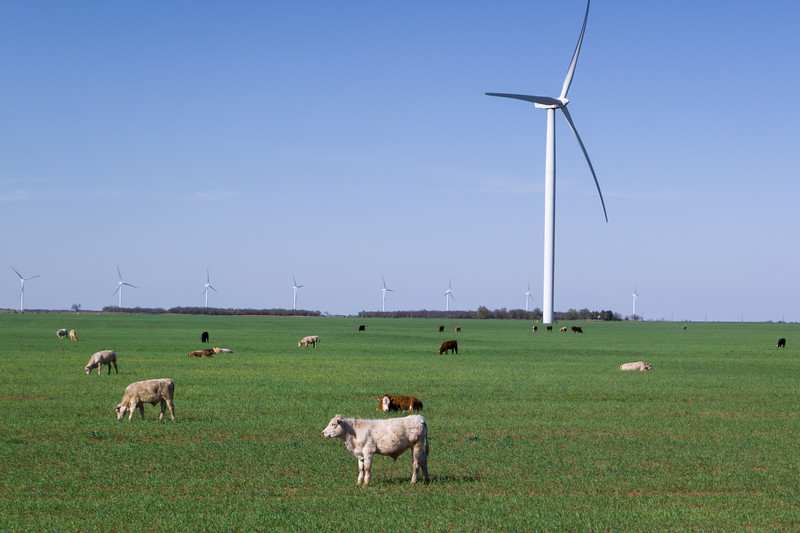 W Texas Wind Power