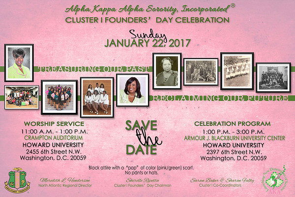 2017-01-22 Cluster I Founders' Day Celebration
