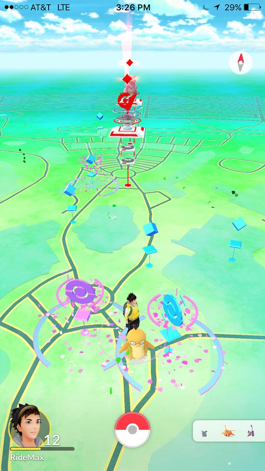 Leveling up in Pokémon GO