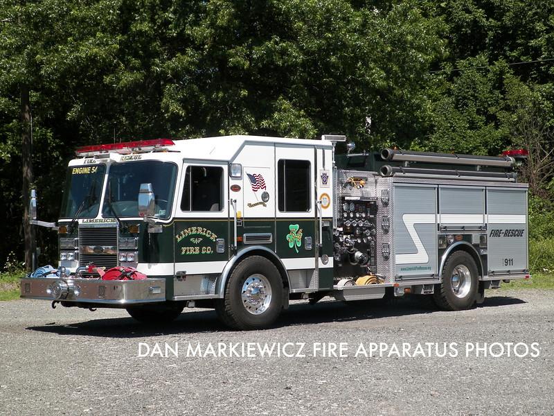 LIMERICK FIRE CO. ENGINE 54 2010 KME PUMPER
