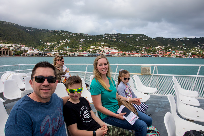 Charlotte Amalie, the largest town on St. Thomas, USVI is in the background.