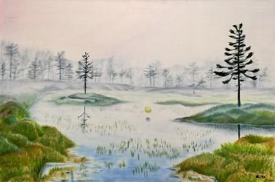 """Swamp"" (oil on canvas) by Aliya Bezrukova"