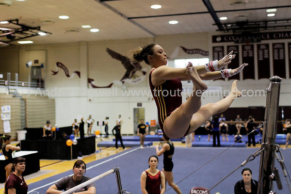 100327 Gymnastics Seattle Pacific University Falcons at Mountain Pacific Sports Federation Championships