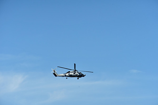 Navy Chopper over Jekyll 03-12-19
