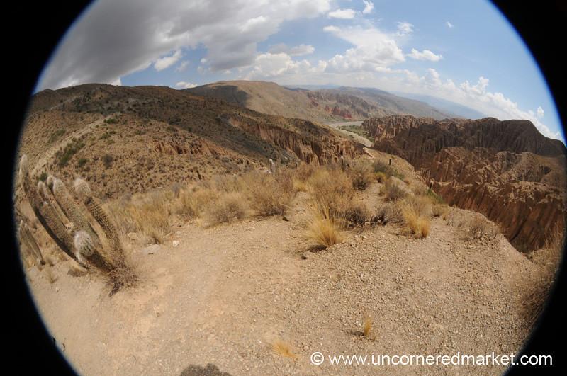 Desert Canyon Fisheye - Sillar, Salar Tour, Bolivia