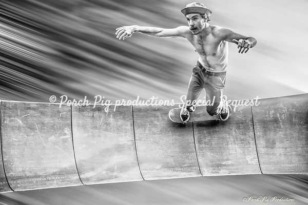 Skateboarding Santa Cruz