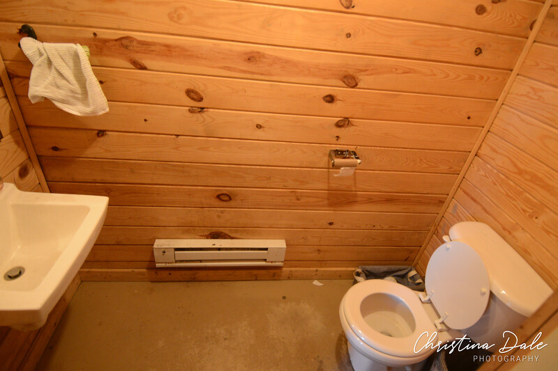 half bath, tied into small sand septic. Additional bathrooms will need full/new septic.