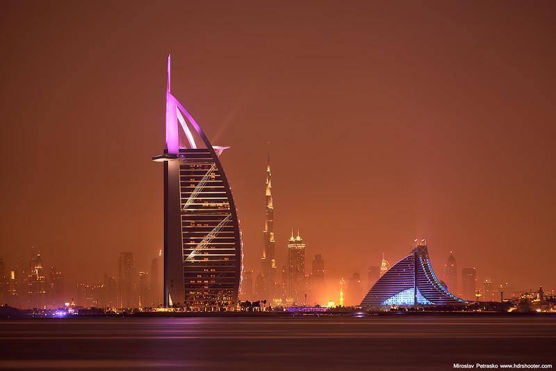 Landmarks in the night