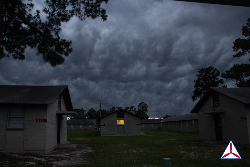 Graduation day began with a lightning show and rolling storm clouds.  Photo Credit: SM Robbie Morgan, GA160