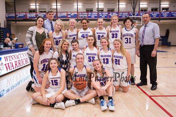 2020--1-31 WHS Girls Basketball vs Dover
