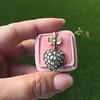 Victorian Revival Heart and Bird Rose Cut Diamond Pendant 7