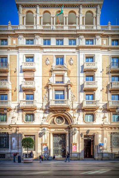 Banco Central Building (project by Vicente Traver, 1952), nowadays Banco de Santander, Avenida de la Constitucion, Seville, Spain