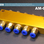 SKU: AM-OIL/5, Lubrication Grease Oil Divider Block, One 6mm Inlet, Five 4mm Outlets