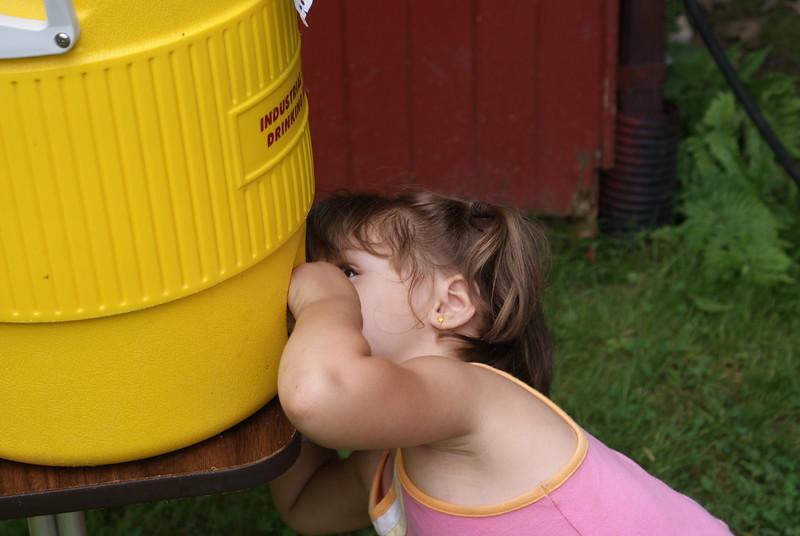 Drinking fountain.