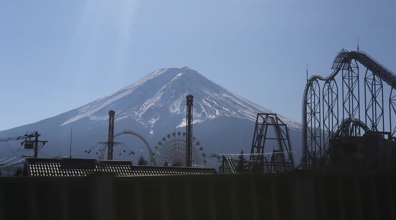 A Mount Fuji sighting from the van....