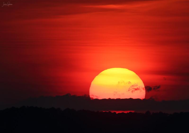 Sunset behind Wachapreague, VA
