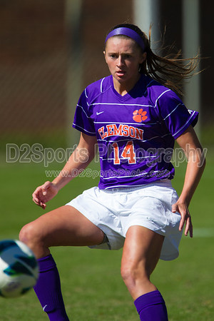 Clemson Tigers vs NC State Wolfpack Women's Soccer 10/21/2012
