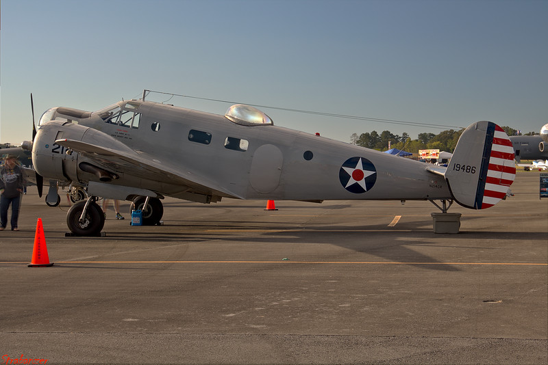 Beech AT-11 Kansan s/n 41-9486  N214CR Rome GA 10/13/2018 This work is licensed under a Creative Commons Attribution- NonCommercial 4.0 International License.