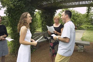 Wedding Rehearsal at Cox Arboretum